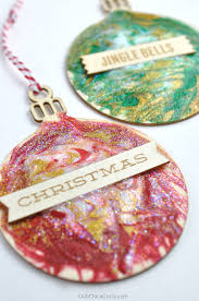 easy glittery toothpick painted ornaments