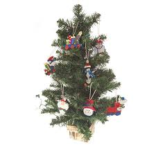 24 tabletop prelit tree with whimsical ornaments qvc