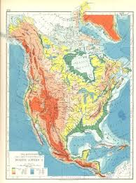 america map mountains america the mountains table lands plains valleys 1897 map