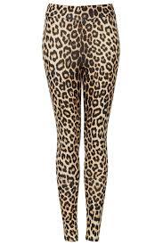 Giraffe Print Leggings Topshop Leopard High Shine Leggings In Brown Lyst