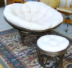 Papasan Chair And Cushion Ottomans Double Papasan Chair With Ottoman Image Small