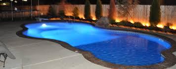 Pool At Night Oklahoma U0027s Premier Swimming Pool Builder S U0026 S Pools Llc