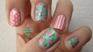 latest flower nails and nail art flower designs
