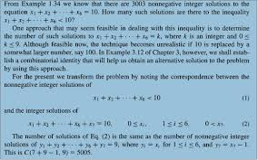 combinatorics number of integer solutions confusion