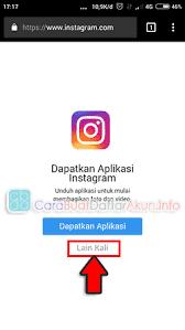 buat akun instagram via operamini buat akun instagram lewat google di hp daftar instagram via web