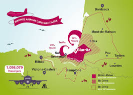 France On Map by Biarritz Airport Biq Unserved Routes In The Route Shop