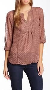 swiss dot blouse daniel rainn lace yoke swiss dot blouse remeras camisas y blusas