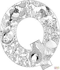 letter q with animals coloring page free printable coloring pages