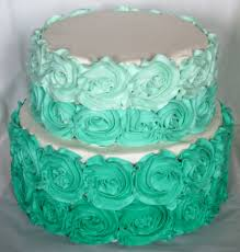 Teal Roses A Sweet Cake Teal