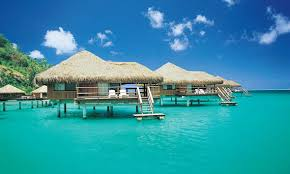 Tiki Hut On Water Vacation 5 Insane Overwater Bungalows You Can Actually Afford Huffpost