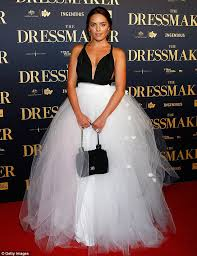 wedding dress makers olympia valance at the dressmaker premiere in sydney after calling