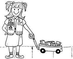 brownie scout coloring page scraphappypapercrafter 332930