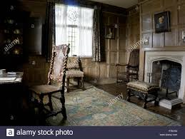 tudor timber framed manor house interior drawing room study