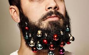 holidays beard baubles decorating faces around the world