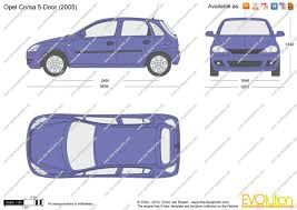 opel purple the blueprints com vector drawing opel corsa c 5 door