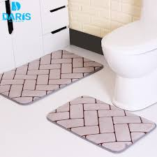 Bathroom Memory Foam Rugs Daris Carpet Set Mattress For Bathroom Coral Fleece Bathroom