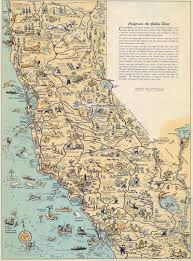 Tourist Map Of San Francisco by Whimsical Old Map Depicts California At A Time When U0027hollywood Was