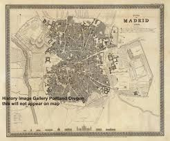 Madrid Spain Map by Welcome To Historynyc Historical Maps Poster Books And Custom