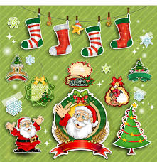 cute christmas decorations elements vector vector christmas