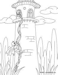 rapunzel tower coloring coloring
