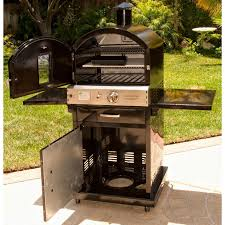 Outdoor Pizza Oven Pacific Living Pl8blk Propane Gas Black Outdoor Pizza Oven On Cart