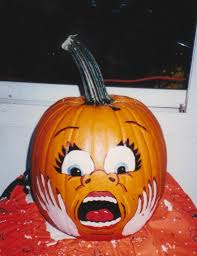 pumpkin painted scare face craft ideas pinterest scared face