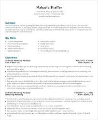 sample resume for marketing assistant event planner sample resume