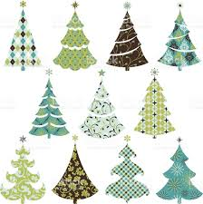 retro pattern christmas tree stock vector art 165928188 istock