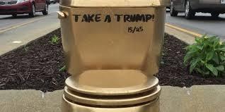 here u0027s what those golden u0027take a trump u0027 toilets mean