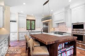 kitchen island with butcher block walnut butcher block kitchen island tops custom crafted by grothouse