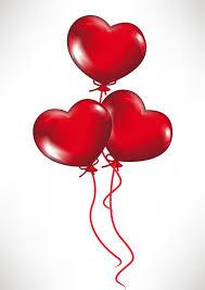heart shaped balloons heartshaped balloons vector free vector 4vector