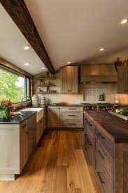 black walnut wood kitchen cabinets the kitchen with wood warmth and the wow factor c r