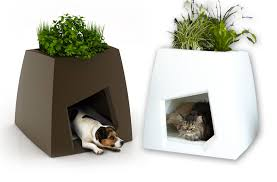 cool modern planters that doubles as pet and bird houses best