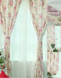 Pink Flower Curtains Flower Curtains And Window Treatments Ideas