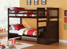 wooden bunk beds with stairs and trundle u2014 loft bed design