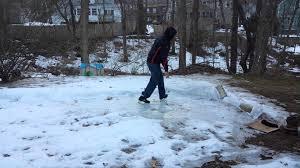 back yard skating rink epic failure youtube