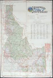 map of idaho idaho highway map of vacation land 1946 47 map title highways of