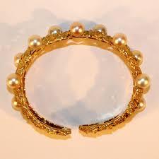 pearl bangle bracelet images Buccellati yellow gold and pearl bangle bracelet nyshowplace jpg