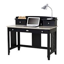 Secretary Desk With Hutch by Charlotte Black Desk With Hutch Z1410110b The Home Depot