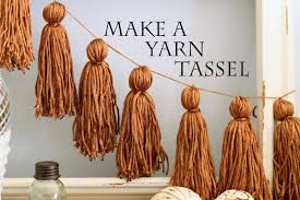 Large Tassels Home Decor by How To Make A Yarn Tassel Youtube