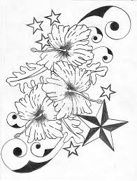 hibiscus flower n nautical star tattoo designs all tattoos for men
