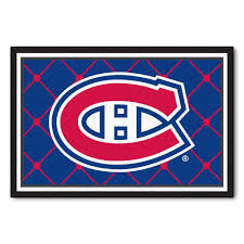Nhl Area Rugs Fanmats Nhl Montreal Canadiens Blue 5 Ft X 8 Ft Indoor Area Rug