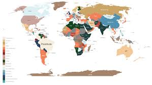 World Map Cartoon by World Map Of National Cost Obsessions Boing Boing
