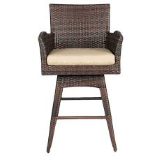 All Weather Wicker Patio Chairs Outdoor Patio Furniture All Weather Brown Pe Wicker Swivel Bar