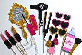 Photo Booth Ideas Beauty Photo Booth Props Makeup Collection Lots Of Glitter