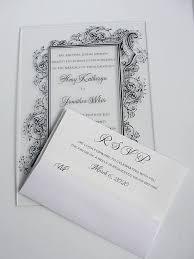 acrylic wedding invitations acrylic