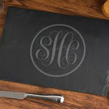 monogrammed serving tray buy now personalized monogram slate serving tray monogram online