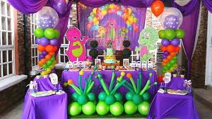barney birthday party theme home party ideas