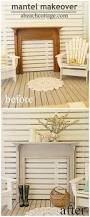 Beach Cottage Home Decor Beach Cottage Vintage Fireplace Surround Makeover Before After