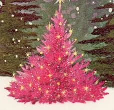 pink christmas tree christmas tree clipart hot pink pencil and in color christmas tree